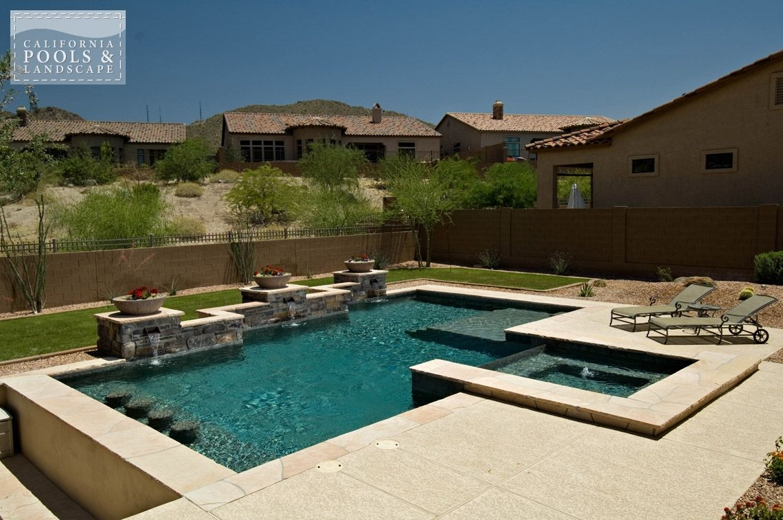 Arizona in ground swimming pool builders modern pool for Pool builders in az