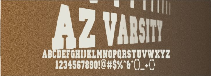 AZ Varsity font download