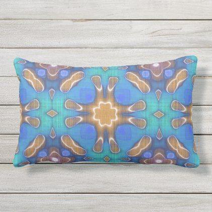Best Blue Turquoise Ochre Brown Hip Ornate Art Motif Lumbar 640 x 480