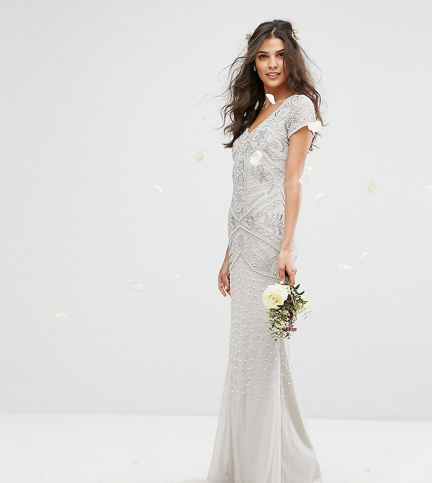 Amelia rose maxi dress with allover embellishment and cap sleeve