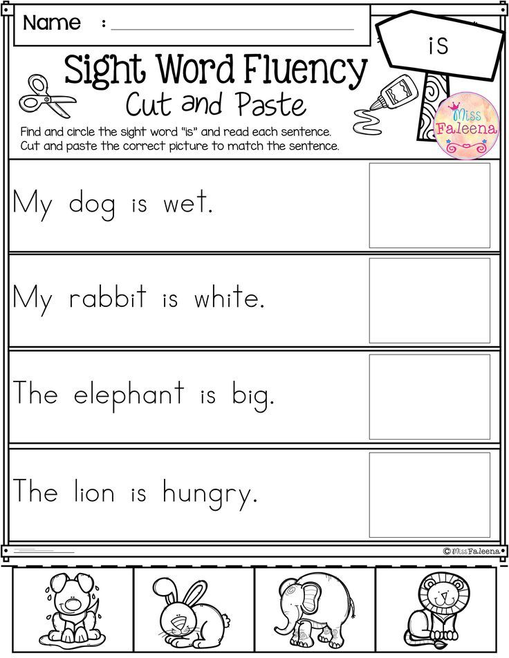 These are FREE samples from my Sight Word Sight Fluency Cut and ...