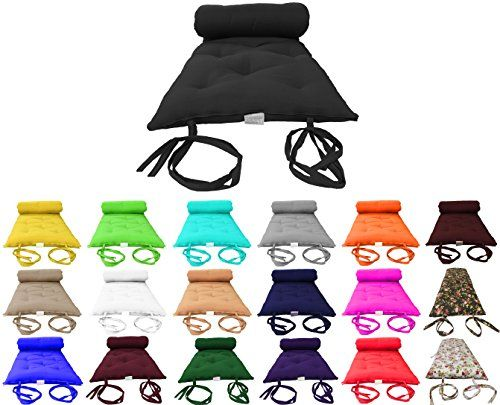 Brand New Black Traditional Japanese Floor Futon Mattresses Foldable Cushion Mats Yoga Meditaion