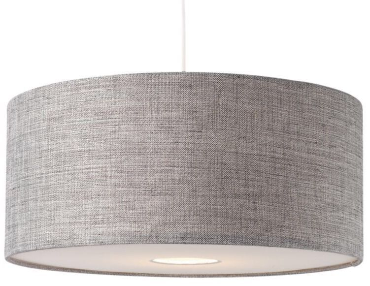 bnwt modern grey textured large drum diffuser ceiling light shade
