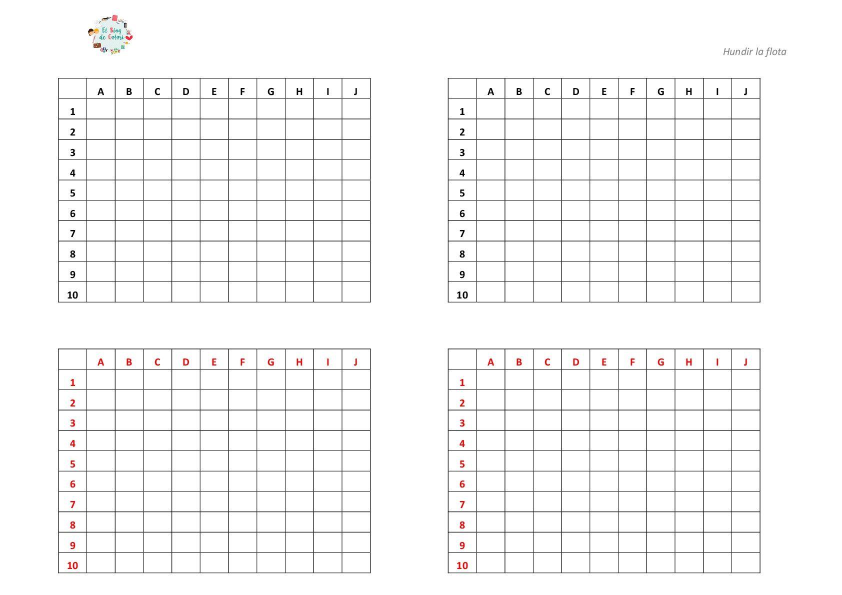 Juegos Con Pale Y Lapiz Hundir La Flota Imprimible Calendario