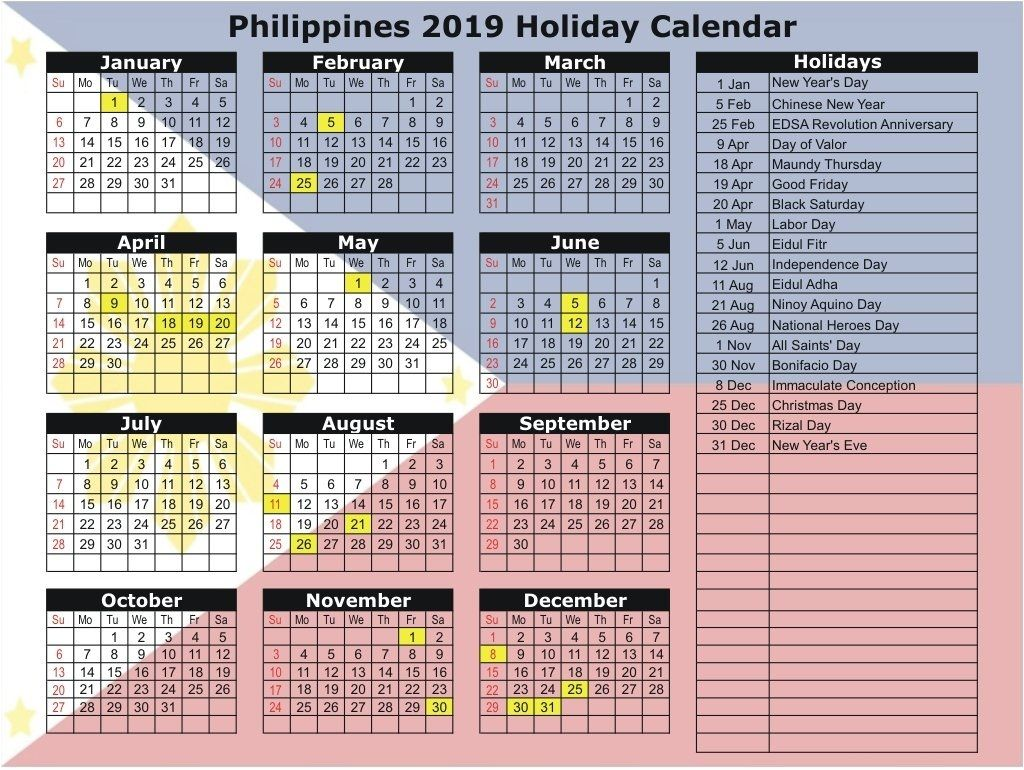 20+ 2021 Holidays Philippines - Free Download Printable ...