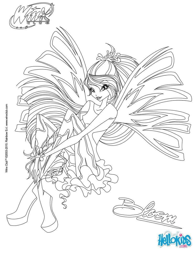 Winx Club Coloring Pages Unique Bloom Transformation Sirenix Coloring Pages Hellokids Mermaid Coloring Pages Fairy Coloring Pages Coloring Pages