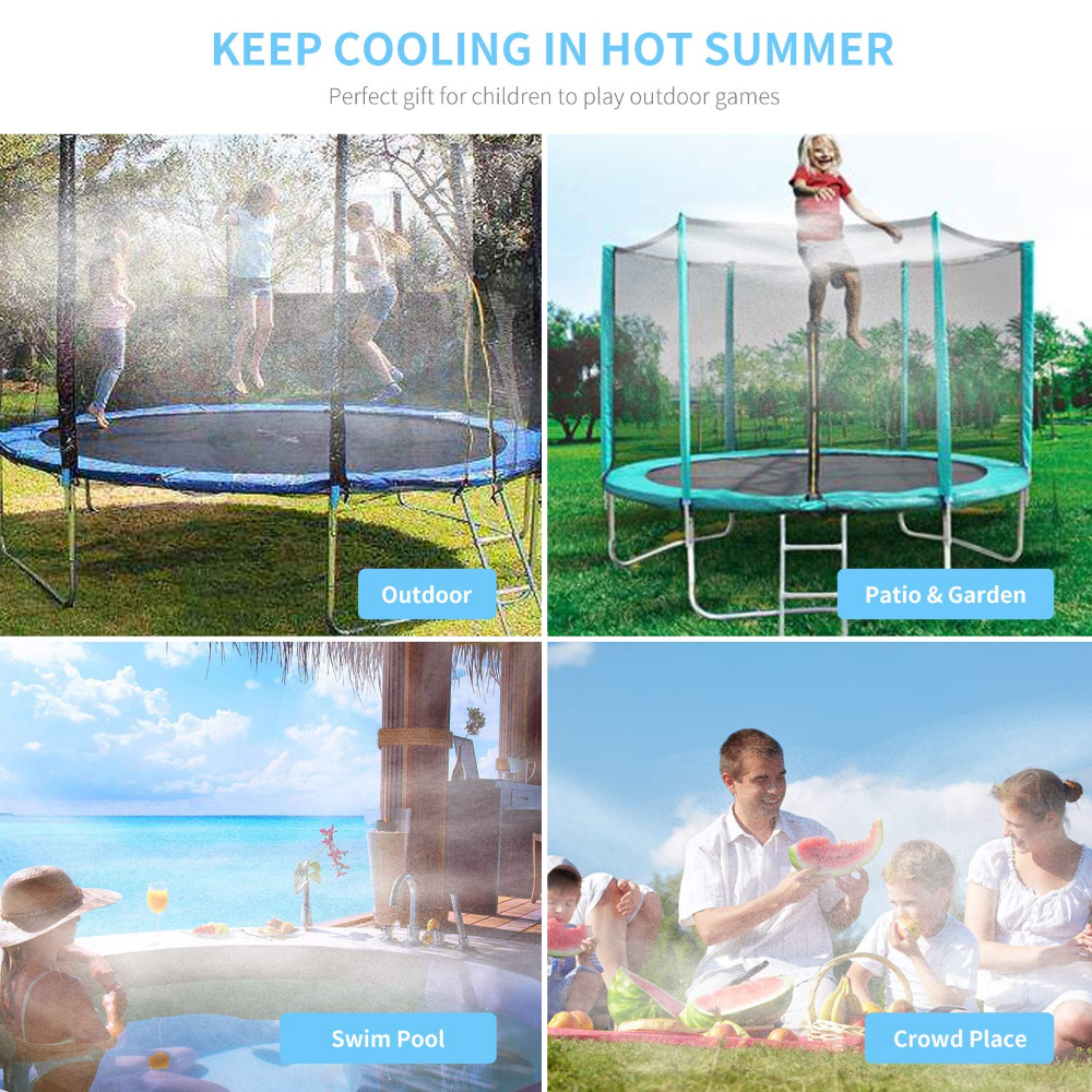 Amazon Com Trampoline Water Play 50 Ft 12 Nozzles Misting