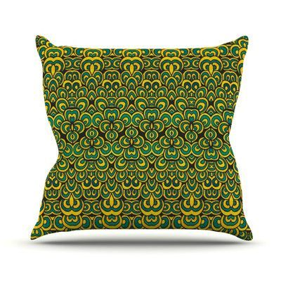 KESS InHouse Animal Temple by Pom Graphic Design Outdoor Throw Pillow Color: