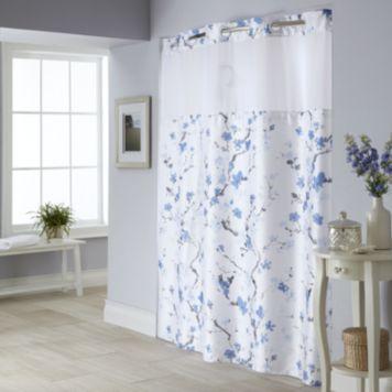 Cherry Blossom 2 Pc Fabric Shower Curtain Liner Set Fabric