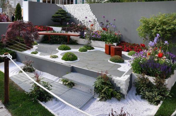 etagengarten kies feng shui gartenmöbel holz | garten | pinterest, Garten Ideen