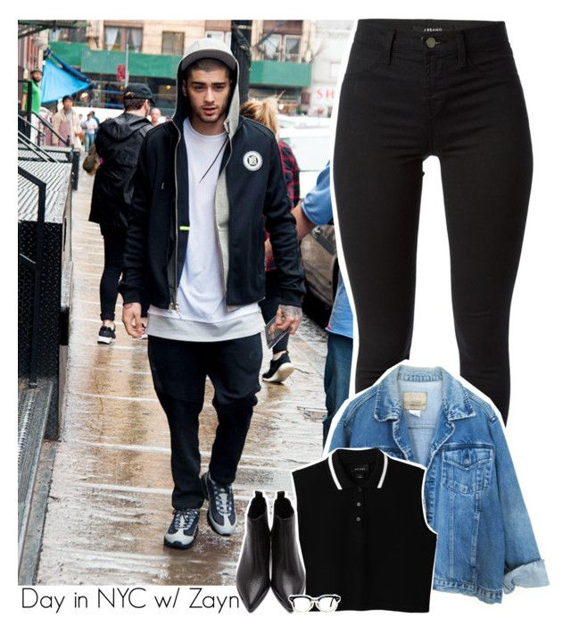 """Day in NYC w/ Zayn"" by amberamelia-123 ❤ liked on Polyvore featuring J Brand, Monki and Acne Studios"