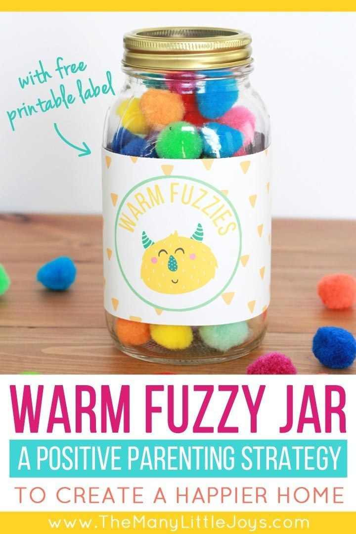 The Warm Fuzzy Jar A Positive Parenting Strategy To Encourage Good Behavior The Many Little Joys Warm Fuzzy Jar Confidence Kids Positive Parenting