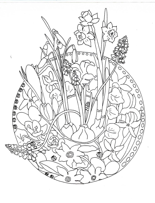 mooie lente mandala om in te kleuren kleurplaten