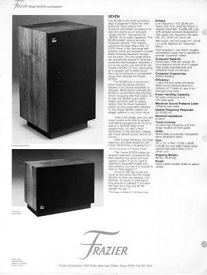 retro vintage modern hi-fi: Frazier Loudspeakers Dallas, TX