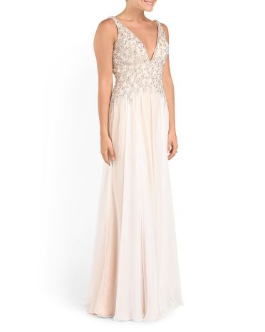 f6da61ce2fd Bridal Embellished Long Gown - Formal - T.J.Maxx