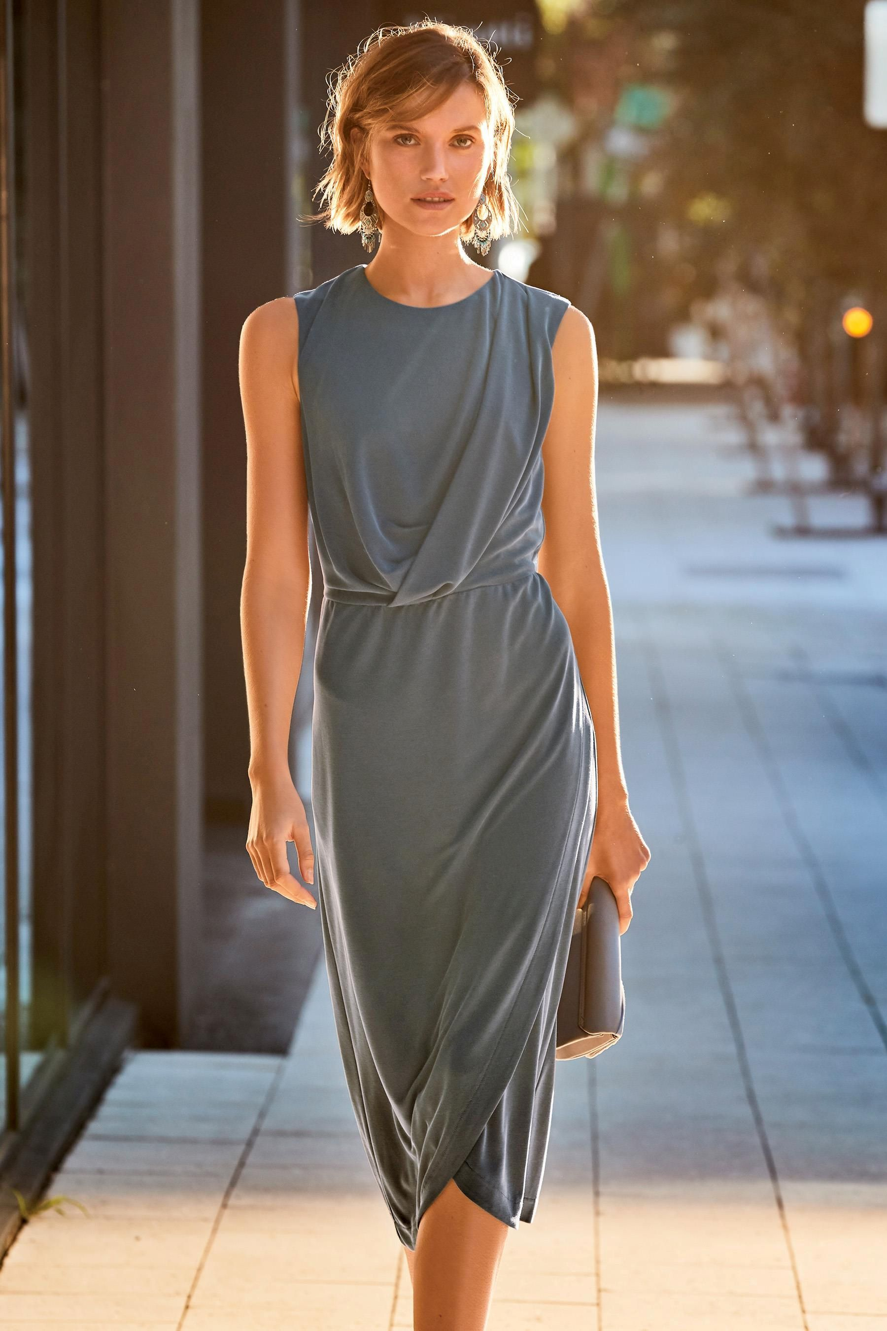 5302cec43e6e Buy Charcoal Cupro Dress from the Next UK online shop | AW 19/20 ...