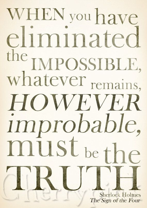 Truth Quotes Pictures & Images | Sherlock holmes quotes, Sherlock quotes,  Sherlock holmes