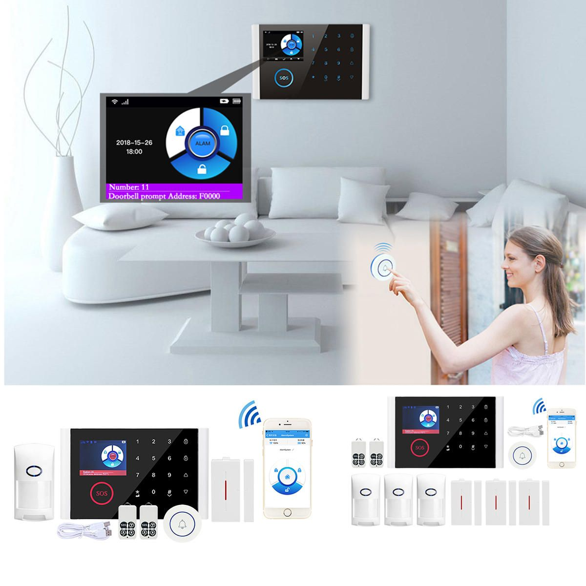 Home Security Systems Home Wifi Gsm Gprs Home Security Alarm System Auto In 2020 Home Security Alarm Home Security Alarm System Security Alarm