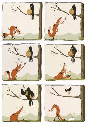 Le Corbeau Et Le Renard Bd : corbeau, renard, Corbeau, Renard, Moral, Stories, Kids,, Picture, Story, Writing