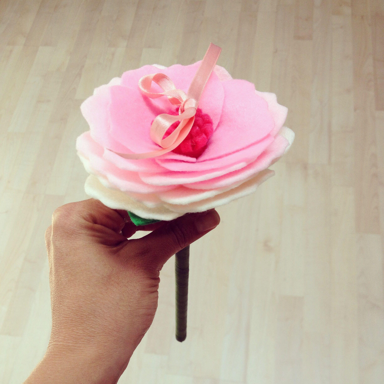 Felt flower for ring bearer