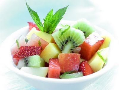 ✔ Fruit Bowl With Pineapples, Strawberries,Kiwi  Watermelon & Mint ||