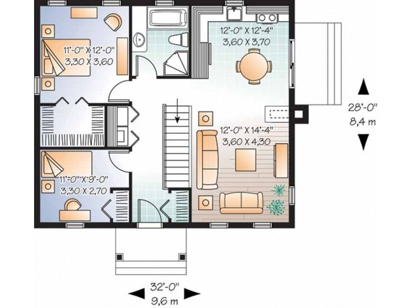 Imagen relacionada casa una planta for Planos de casas pequenas de una planta