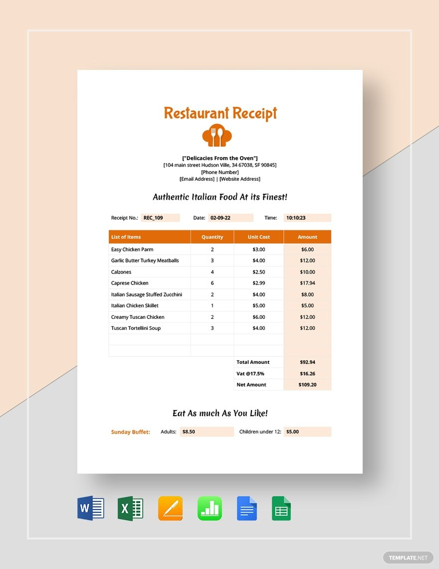 Pin By Jenny Chris On For You Receipt Template Word Doc Templates