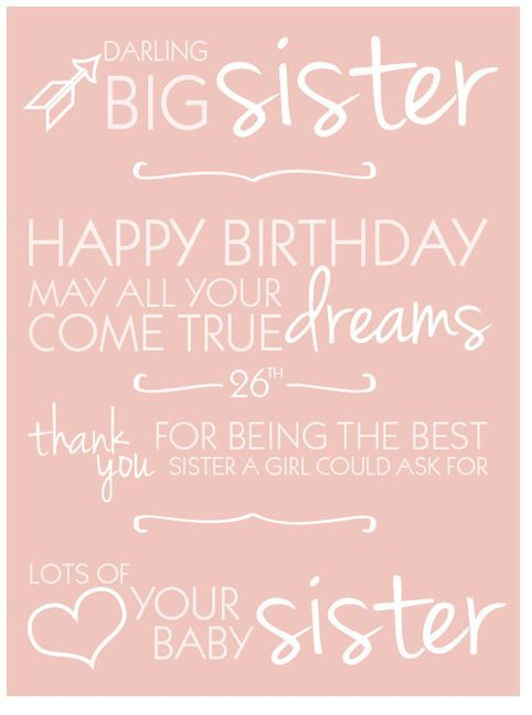 Fabulous Happy Birthday Sister Quotes Happy 26Th Birthday Quotes Sweet Personalised Birthday Cards Paralily Jamesorg