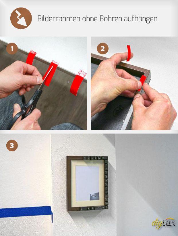 bilderrahmen aufh ngen ohne bohren bastelanleitungen bilderrahmen aufh ngen rahmen und. Black Bedroom Furniture Sets. Home Design Ideas