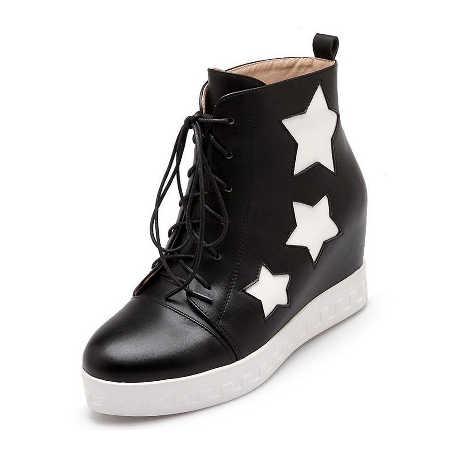 Women's Lace-up High-Heels PU Assorted Color Low-top Boots
