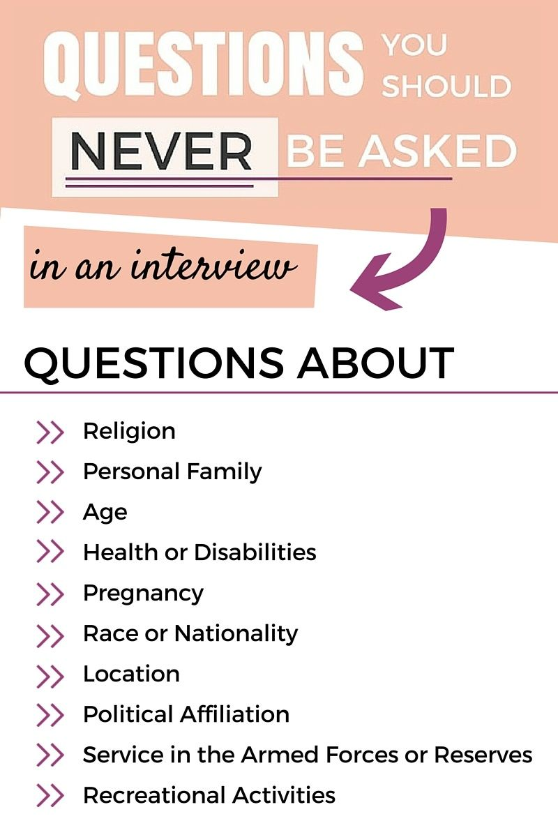 10 Interview Questions You Shouldn't be Asked Business