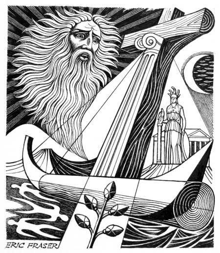 THE ANATHEMATA by ERIC FRASER, pen and ink with bodycolour