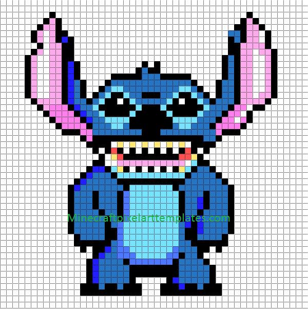 Minecraft Pixel Art Templates Stitch Lilo And Stitch Pixel Art Templates Minecraft Pixel Art Pixel Art