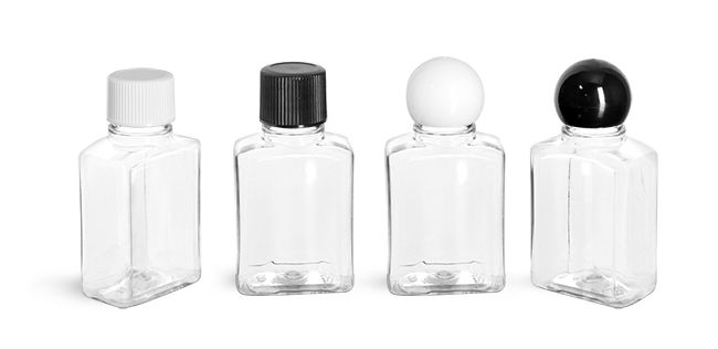 49fe27b87ee 1 oz Clear PET Rectangle Amenity Bottles w  Caps from SKS Bottle and  Packaging