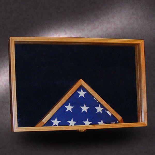 16x24 Shadow Box With 3x5 Flag Frame Framed Flag Shadow Box Military Shadow Box