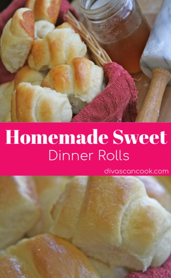 Sweet Dinner Roll Recipe- No Bread Machine