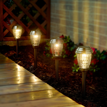 Charleston 6pack Solar Lights Copper Solarpathwaylights Solarlights Pathwaylights Solarlighting Smart Outdoor Solar Lights Solar Lights Pathway Lighting