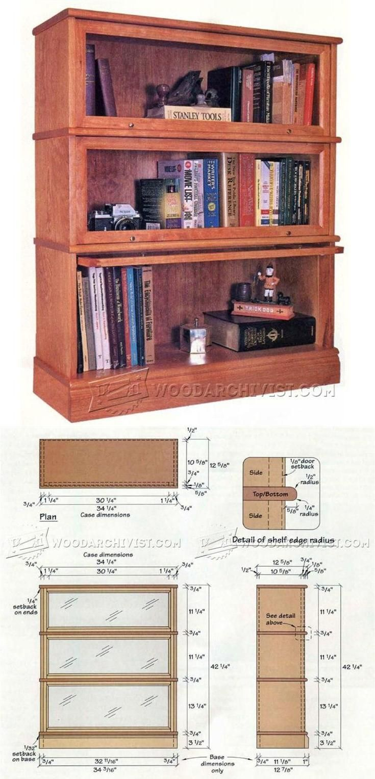 Barrister Bookcase Plans Furniture Plans And Projects Woodarchivist Com Bookcase Woodworking Plans Bookcase Plans Woodworking Bench Plans