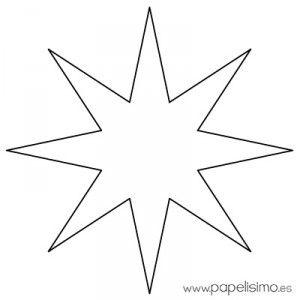 Plantillas De Estrellas Para Decorar.Estrella Imprimir Colorear Y Recortar 3 Estrellas Para