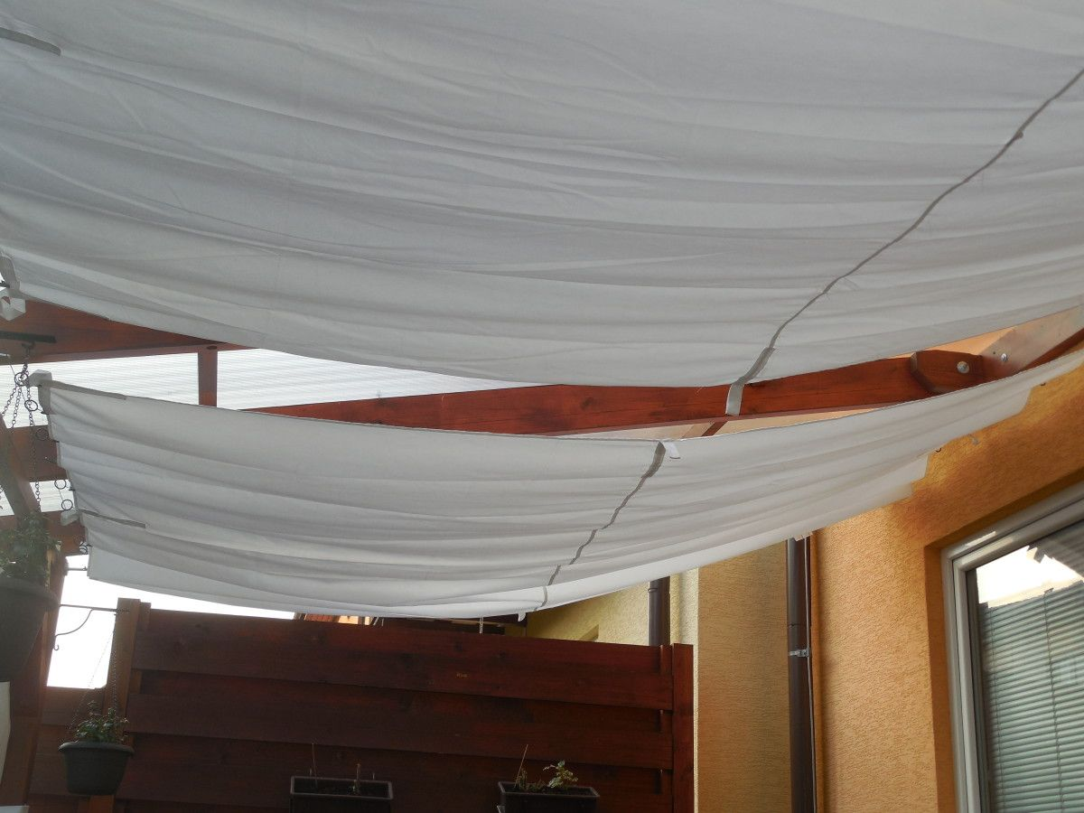 garden pergola shading backyards pinterest curtain wire canopy and modern. Black Bedroom Furniture Sets. Home Design Ideas