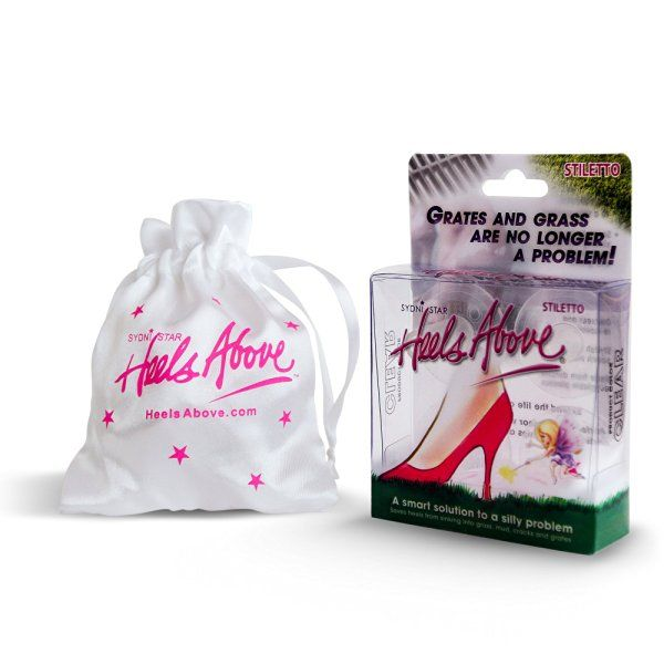 Heels Above High Heel Protector 2 Pairs- includes 2 sizes - Clear