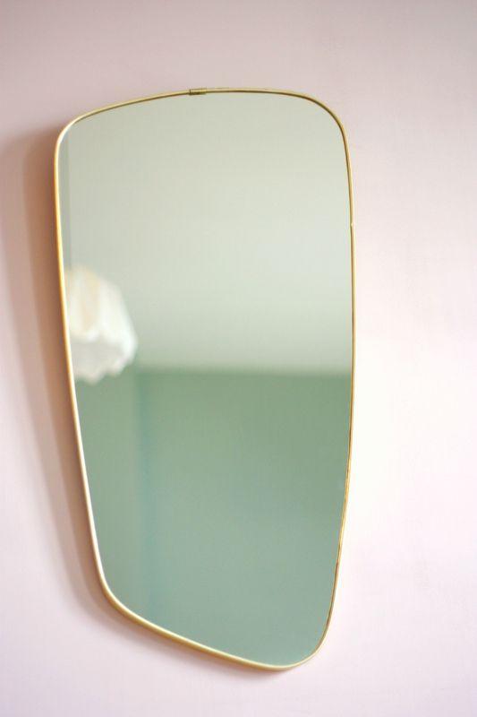 Miroir Vintage 176 Pink Wall Sur Les Murs Miroir Miroir