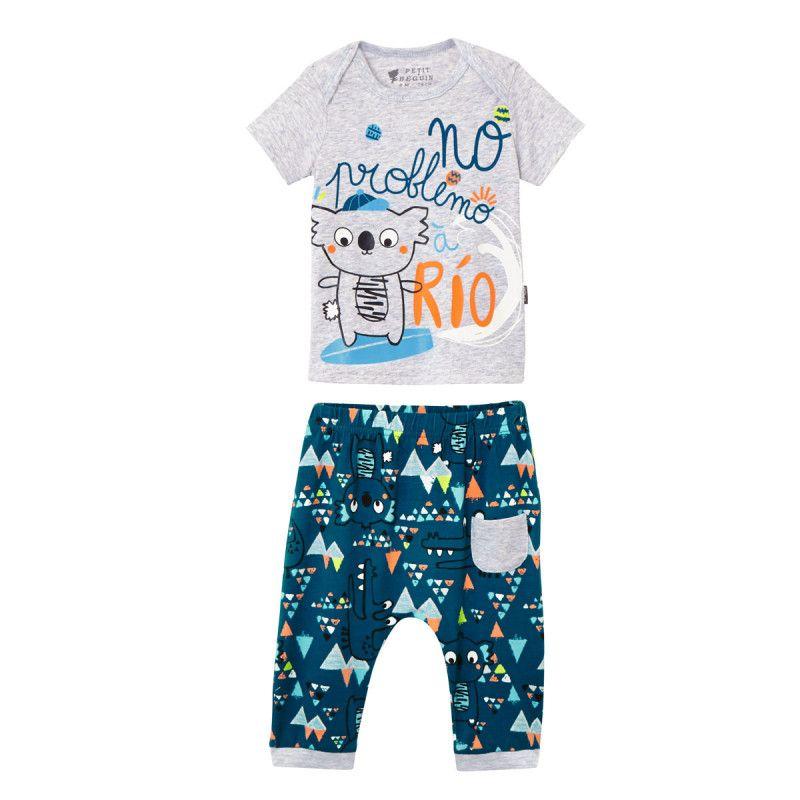 ab934a958adee Ensemble bébé garçon t-shirt + sarouel Rio - PETIT BEGUIN