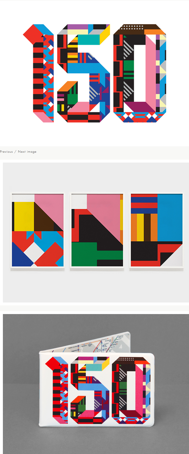 LONDON UNDERGROUND  150th ANNIVERSARY The Fabric of Design