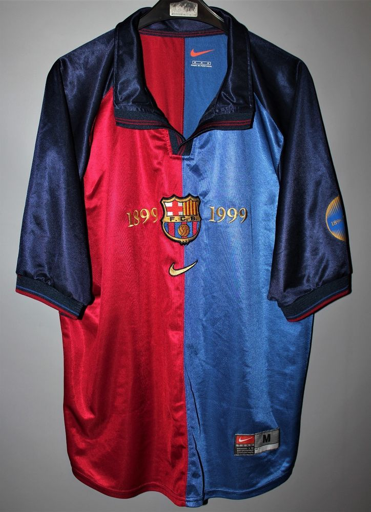BARCELONA SPAIN 1999 2000 HOME CENTENARY FOOTBALL SHIRT JERSEY NIKE M ADULT  (eBay Link) a6da98ffb2d8