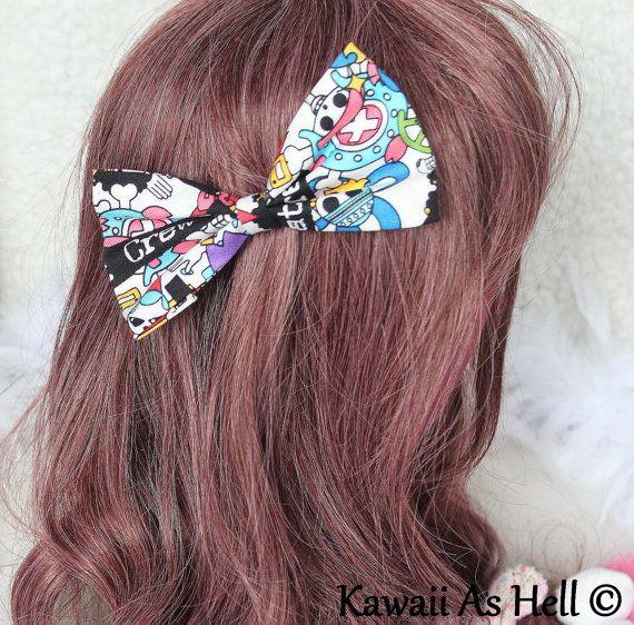 Hair Bow One Piece Tony Chopper Skull Flag Anime Kawaii Etsy Handmade Hair Clip Accessories Hair Accessories