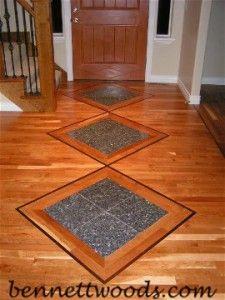 Hardwood Floor Stone Inlay Bennett Woods Salt Lake S Hardwood