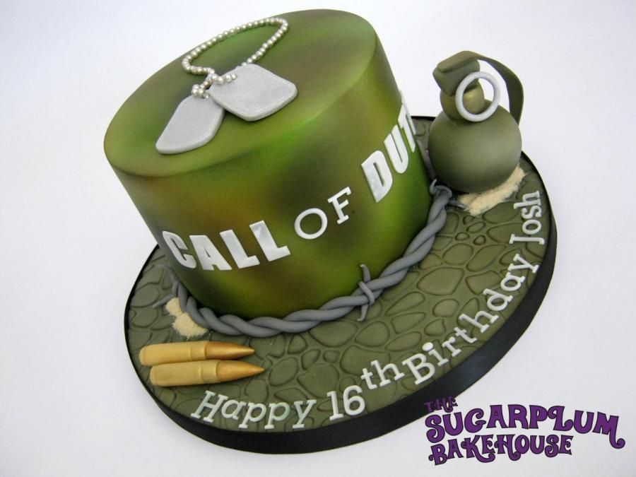 Call Of Duty 16th Birthday Cake Cake by Sam Harrison 16 year old