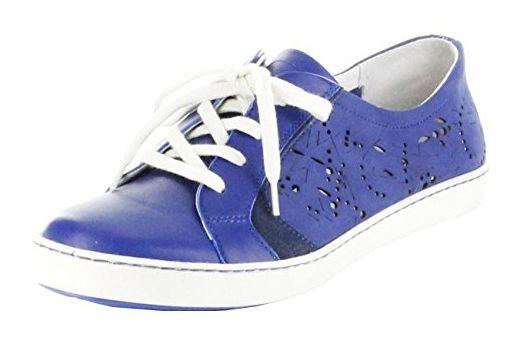 Josef Seibel Sneaker blau Glattleder Lederdeck Damen Schuhe