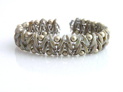 Mesia ikov hnedo ed kacenkag handmade n ramky my beadwork armband schmuck - Perlenarmband basteln ...
